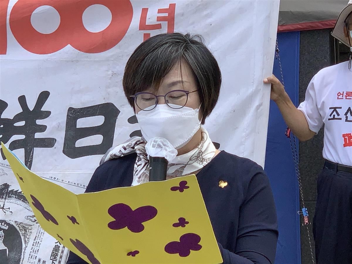 日本非難から理念対立の場に 慰安婦像居座りのソウル日本大使館前